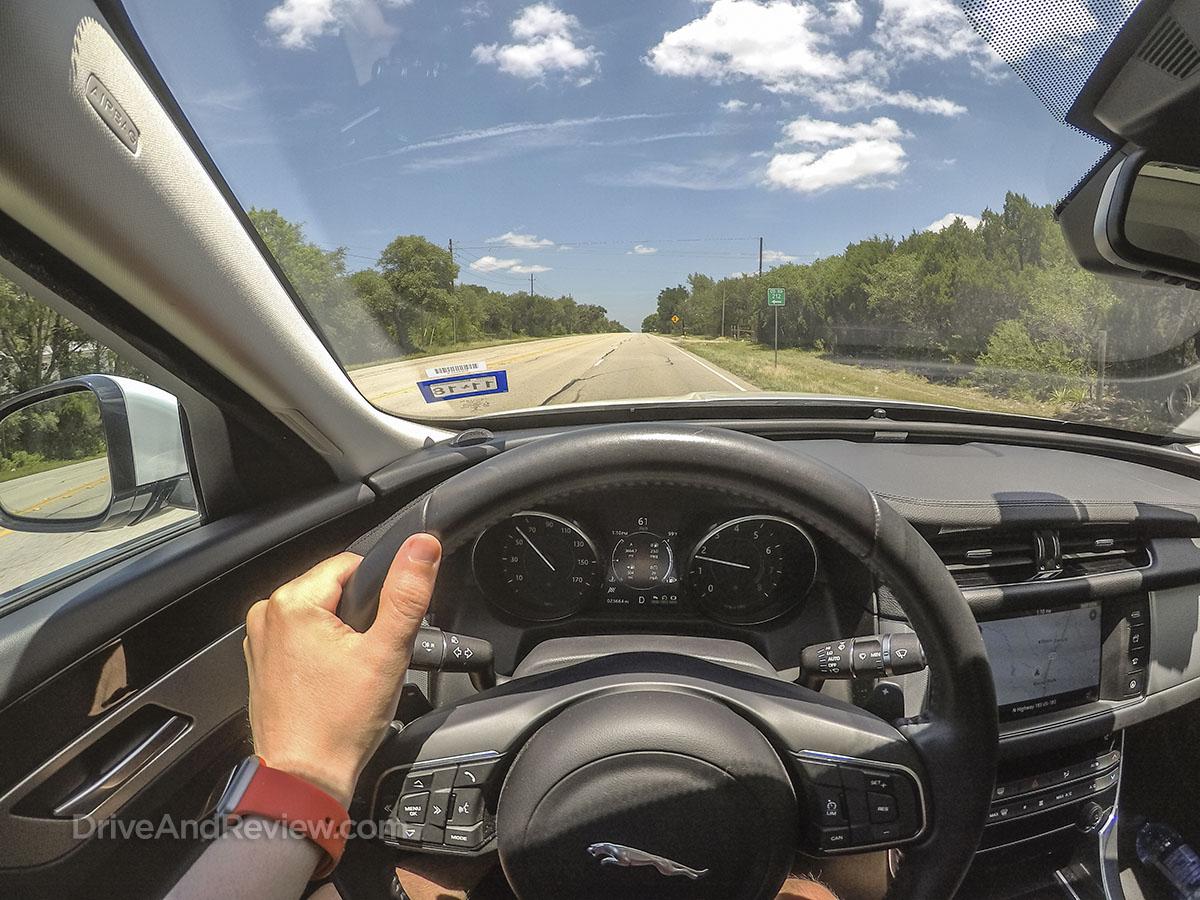2018 Jaguar XF road trip