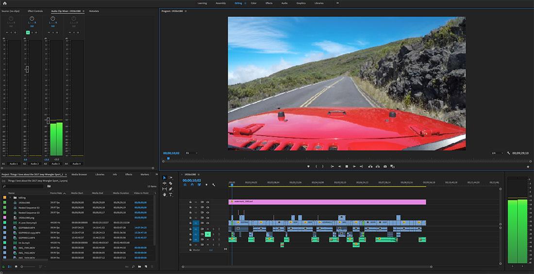 car review video editing