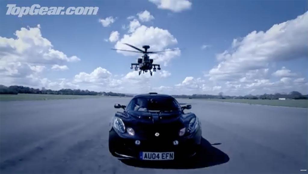 Apache vs Lotus Exige top gear