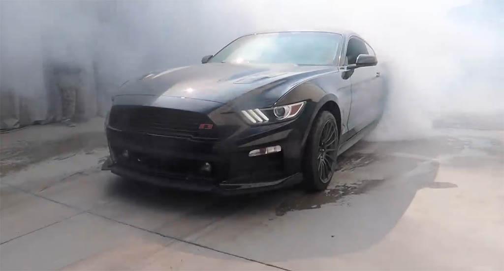 TJ Hunt Mustang burnout