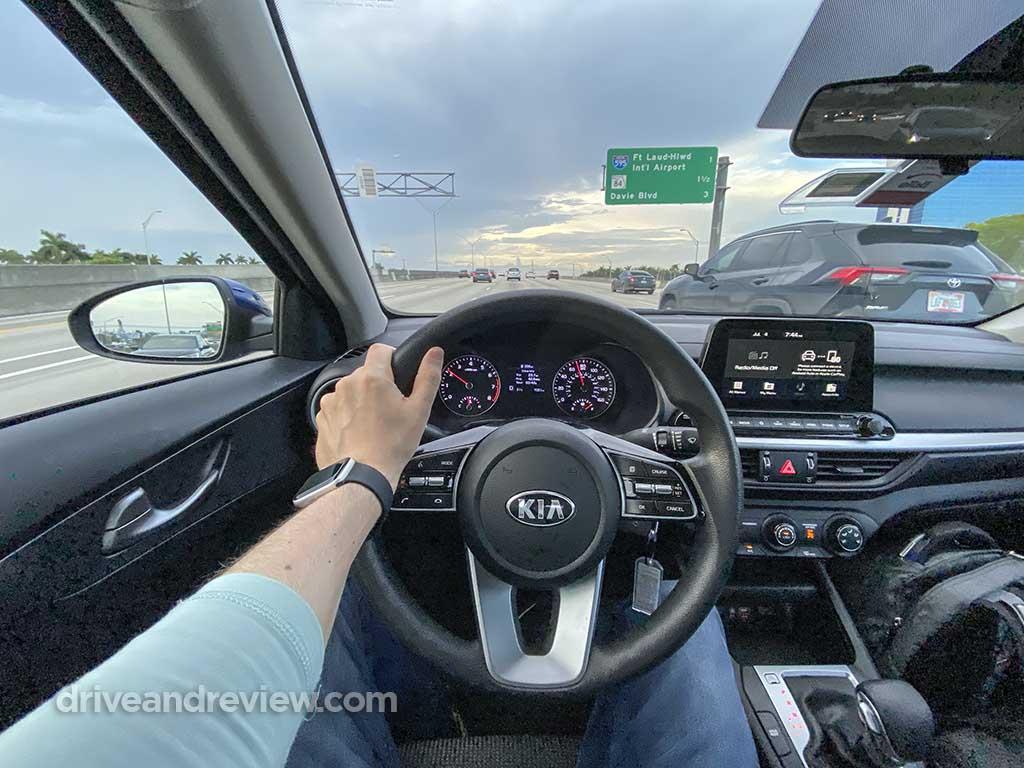 driving a 2021 Kia Forte
