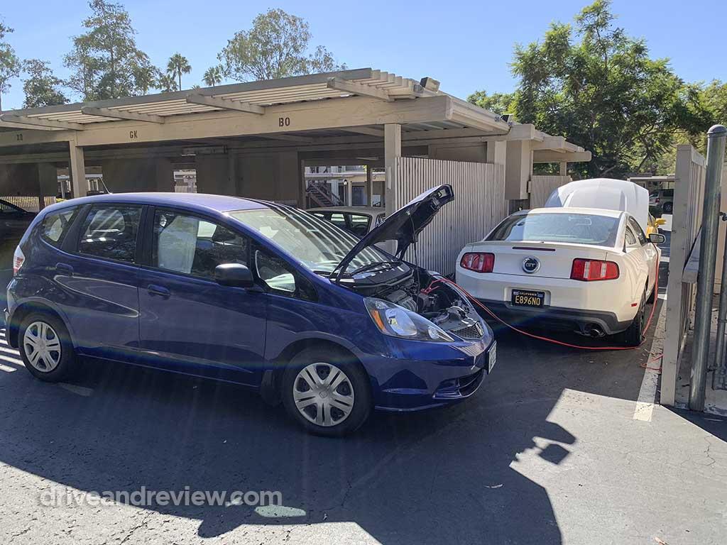 2010 Honda Fit and 2012 Mustang