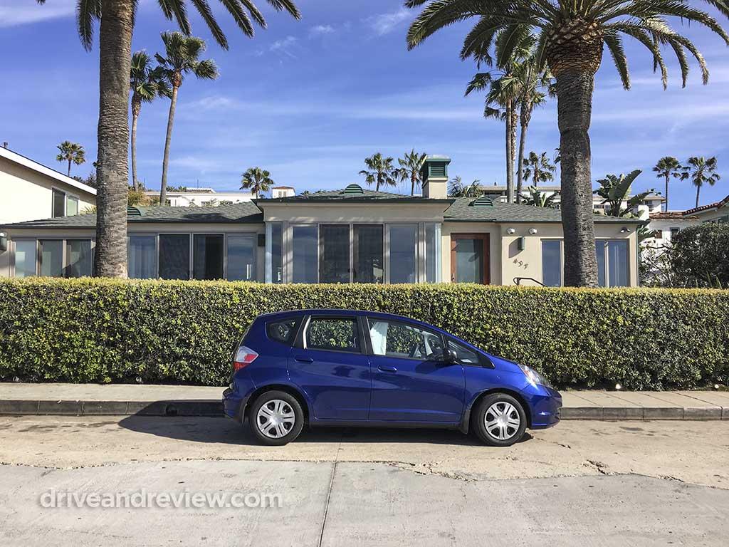 2010 blue Honda Fit