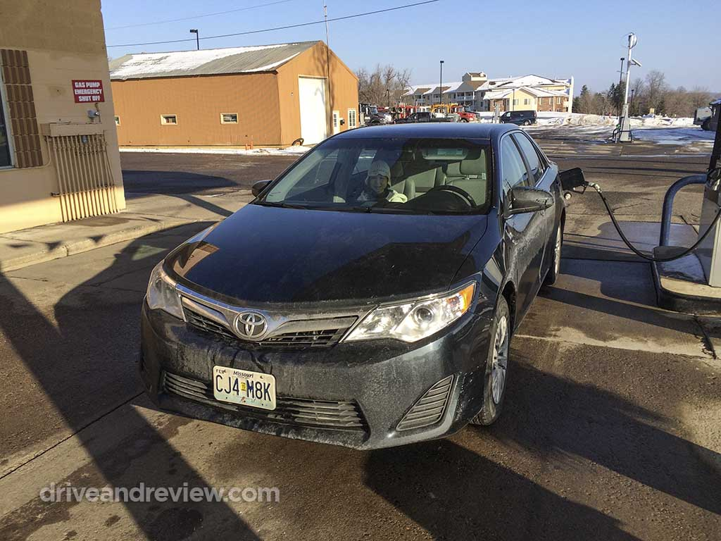 2013 Camry at the gas station