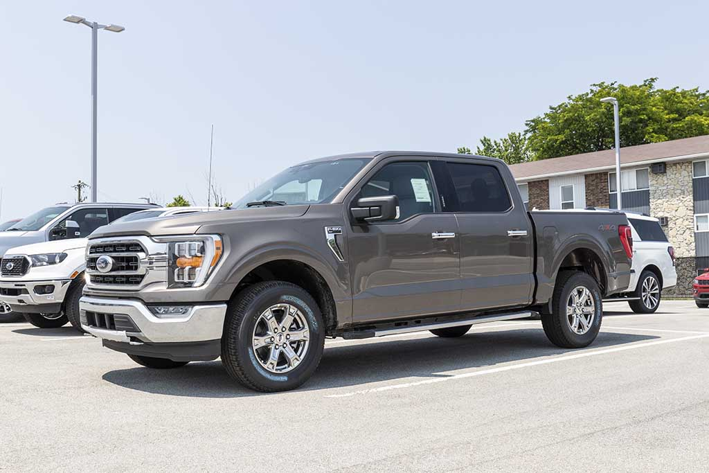 Gray Ford F-150 extended cab